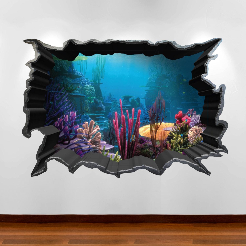 Finding Nemo Aquarium 3D Wall Art Sticker Decal Boy Girl