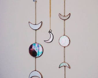 Stained glass moon phases