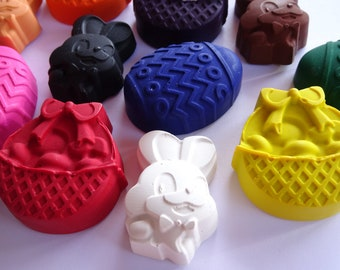 12 Easter Crayons - Novelty Crayons - Party Favor - Easter Basket