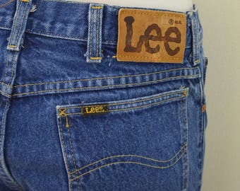 Vintage LEE Riders w31 l32 UNION Made In USA denim bue jeans 1970's