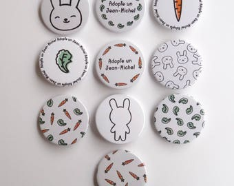 38 mm badge - adopt a Jean-Michel - set of two badges to choose - Pinback - button