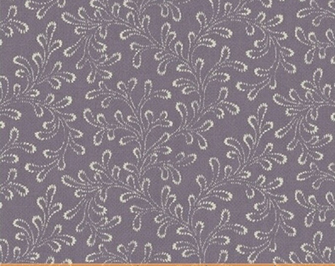Half Yard Chambray Rose - Fern in Lavender Purple - Cotton Floral Quilt Fabric - Nancy Gere for Windham Fabrics - 40830-3 (W3439)