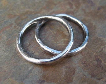 Fine .999 Silver Stacking Rings Made to Order in your size