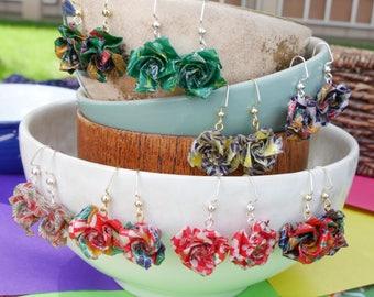Origami Blossom Earrings