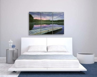 Split canvas~dock and sunset