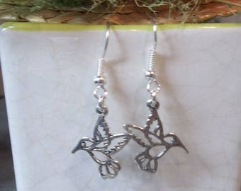 Bird design Silver Earring