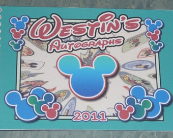 Personalized Disney MICKEY MOUSE Autograph Book - Made to Order with your Name and Info