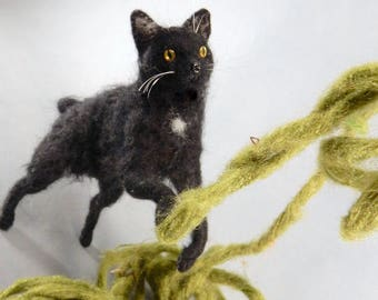 Custom felted cat replica needle felted cat miniature custom cat replica felt cat soft sculpture look alike cat lover gift crazy cat lady