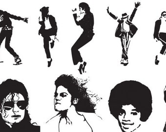 Michael Jackson Silhouettes Pack Silhouette SVG Cut Files Instant Download