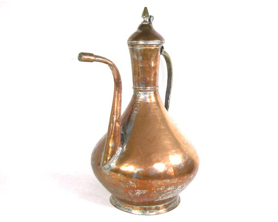 Antique Middle Eastern Copper Coffee Pot
