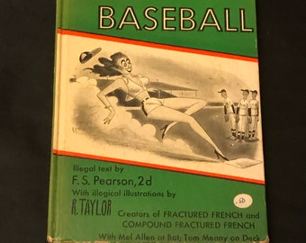 1952 Butched Baseball book humorous definitions F.S. Pearson and R. Taylor