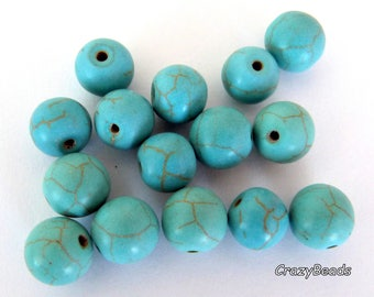 Sale - 20% 15 imitation Emerald 10mm glass beads