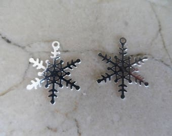 """2 charms snowflakes """"snow Queen"""""""
