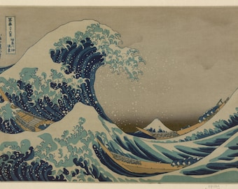 The Great Wave at Kanagawa by Katsushika Hokusai Home Decor Wall Decor Giclee Art Print Poster A4 A3 A2 Large Print FLAT RATE SHIPPING