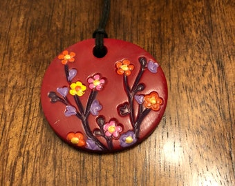 Flowers Necklace~Red Necklace