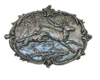 Vintage Deer Medallion, Large