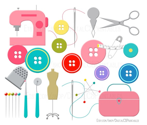 sewing clipart sewing clip art button clipart cute clipart sewing rh etsystudio com sewing clipart free download sewing clipart free download