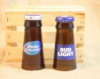 Shot Glasses Upcycled from Bud Light Beer Bottles, Shot Glass, Upcycled Beer Bottle, Unique Glassware, Great Groomsmen Gift, ONE Shot Glass