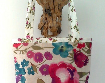 Vintage Style Floral print, shopping, day, tote bag