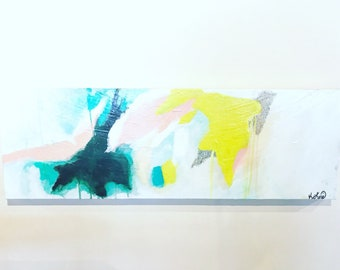 Abstract/Bright/Color/Minimal/Contemporary/Modern/Shapes/Large/Long/Original/Acrylic/Painting-Our Lungs