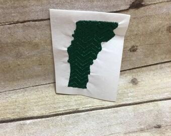 Vermont Chevron Embroidery Design, Vermont Embroidery Design Chevron