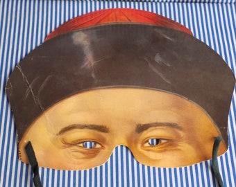 Vintage Chinese Man Devil Style Die Cut Mask
