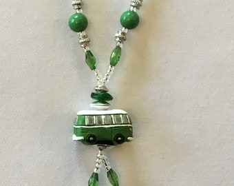 Bright Green Campervan Necklace