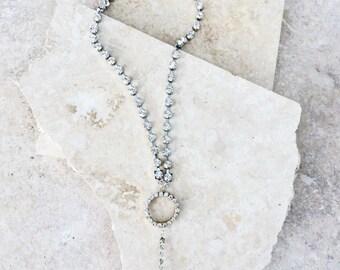 20 % de RÉDUCTION Saint-Georges - un strass collier avec pendentif en quartz cristal clair