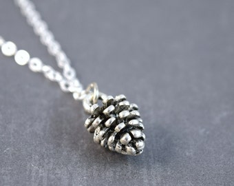 Pinecone Necklace, Pinecone Jewelry, Pinecone Pendant, Nature Pendant, Sterling Silver, Woodland Necklace, Woodland Pendant, Nature Jewelry