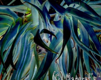 """Surreal Photography print, 11x14 abstract photo """"watercolor painting"""" called Blue LorX"""