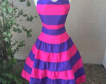 Small- Cheshire Cat costume apron dress
