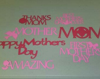Happy Mother's Day, Mom's Day, Phrases, Cutouts, Die Cuts, Celebrate Mother's Day, Scrapbooking