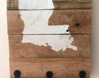 Rustic Louisiana Key Holder