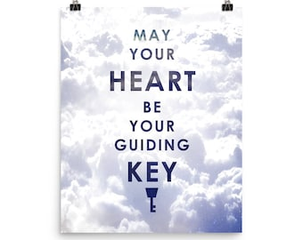 Kingdom Hearts // Kingdom Hearts 3 // 'May your heart be your guiding key' // Sora // Aqua // Poster