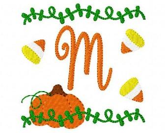 Pumpkin Patch// Fall // Candy Corn // Monogram Font // Embroidery Design // Joyful Stitches