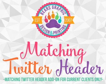 Matching Twitter Header Add-On for Current Design Clients Made to Match Design Add-on
