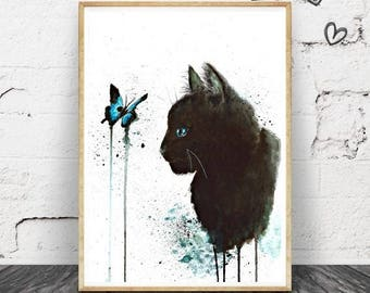 Black Cat - Print