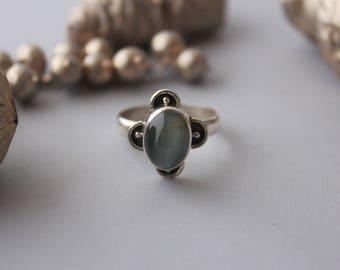 Cat's eye ring set in Sterling silver