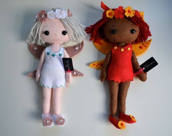 felt Doll (Adult Collectable) from Gingermelon patterns