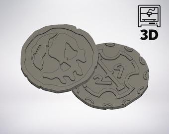 Mer bricolage des voleurs: pirate pièces 3D modèle pour l'impression 3D