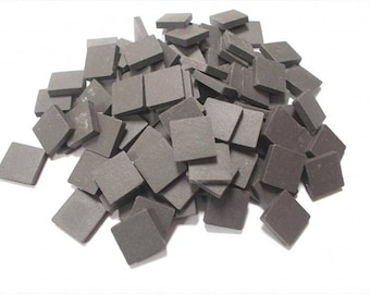 Mosaic Sheet, 75 Tiles. Charcoal porcelain Great tiles very easy to use and cut.
