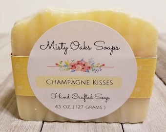 Champagne Soap, Champagne Favors, Champagne Gifts, Cold Process Soap, Handcrafted Soap, Artisan Soap, Handmade Soap, Palm Oil Free Soap