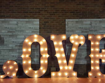5ft Ultra Font 'LOVE' letters