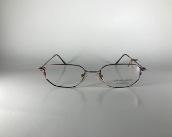 Studioline 3004 col 30 Made in Italy CE Unisex 49-18-140 Vintage Frames Red Metal NOS Deadstock - Free Shipping-STUF234J-1