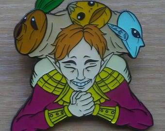 Happy Mask Salesman pin