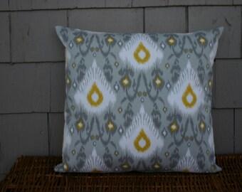 Large Ikat Print-  Throw Pillow Cover