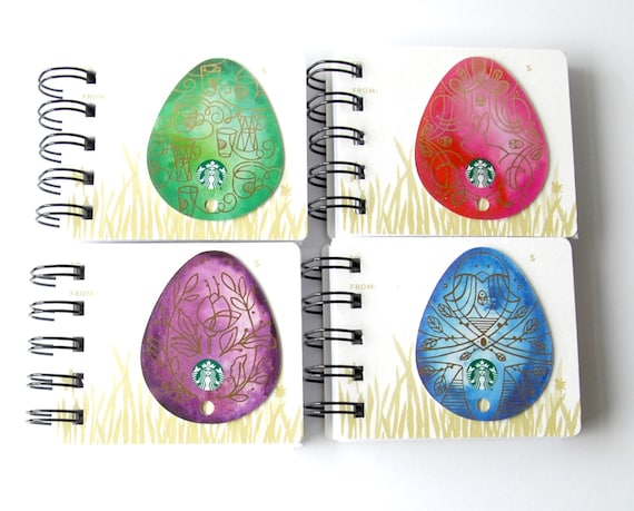 Starbucks easter notebook gift card covers front and back negle Gallery