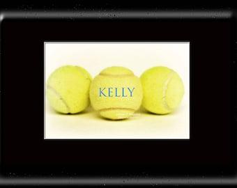 Custom Tennis Art-Customized Tennis Ball Print-Name On Tennis Print-Tennis Ball Photo-Sports Wall Decor-Fine Art Print-Girl Room Wall Art