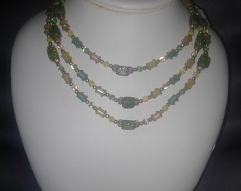 3 Strain beaded necklace