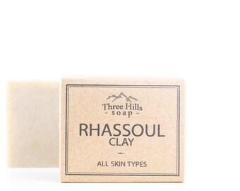 Rhassoul Clay,Rhassoul Clay Soap,Rhassoul Soap,Natural Soap,Vegan Soap,Fragrance Free Soap,Palm Free Soap,Clay Soap,Soap for All Skin Types